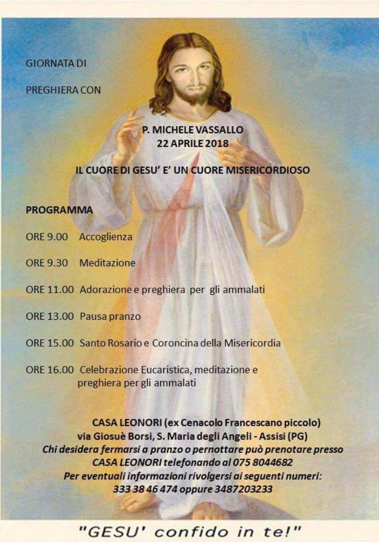 Padre Michele Vassallo Calendario.Giornata Di Preghiera Con Padre Michele Vassallo Servi Di