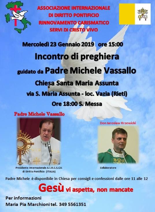 Padre Michele Vassallo Calendario.Incontro Di Preghiera Guidata Da Padre Michele Vassallo